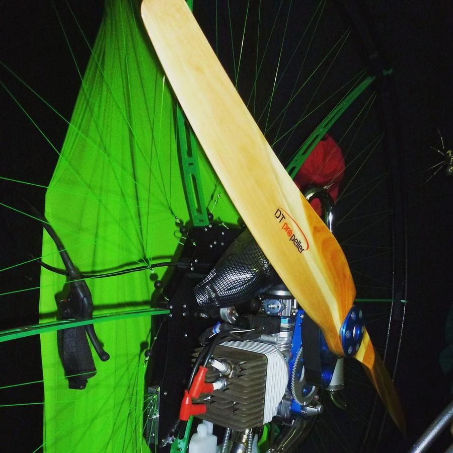 wooden paramotor propeller